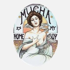 Mucha Ornament (Oval)
