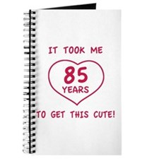 Funny 85th Birthday (Heart) Journal