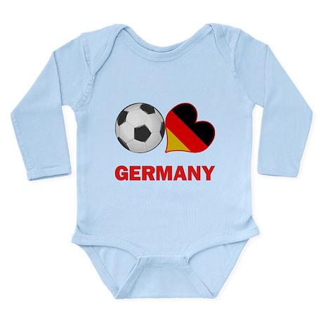 German Soccer Fan Long Sleeve Infant Bodysuit