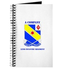 DUI - A Company - 52nd Infantry Regt with Text Jou