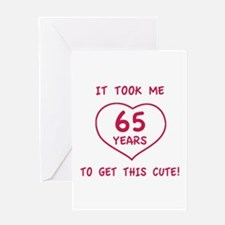 Funny 65th Birthday (Heart) Greeting Card