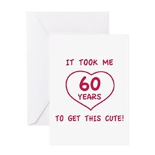 Funny 60th Birthday (Heart) Greeting Card