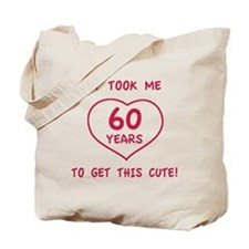 Funny 60th Birthday (Heart) Tote Bag