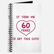 Funny 60th Birthday (Heart) Journal