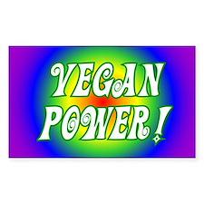 Vegan Power Rectangle Decal