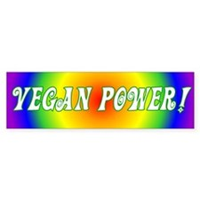 Vegan Power Bumper Car Sticker