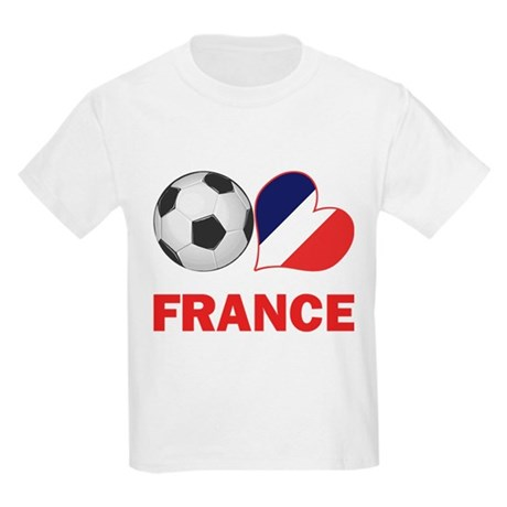 French Soccer Fan Kids Light T-Shirt