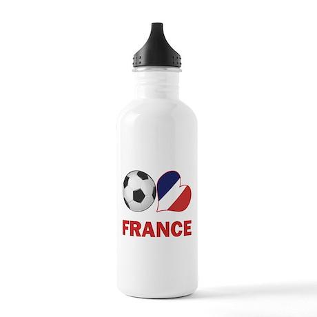 French Soccer Fan Stainless Water Bottle 1.0L