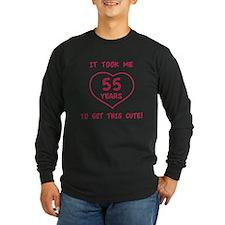 Funny 55th Birthday (Heart) T