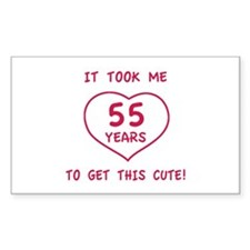Funny 55th Birthday (Heart) Decal
