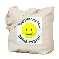 Happiness Is Being Vegan Tote Bag