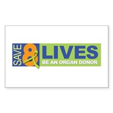 Save 8 Lives Rectangle Decal