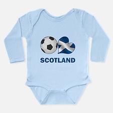 Scottish Soccer Fan Long Sleeve Infant Bodysuit