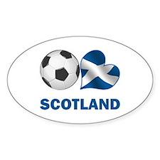 Scottish Soccer Fan Sticker (Oval)