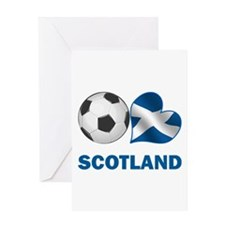 Scottish Soccer Fan Greeting Card