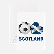 Scottish Soccer Fan Greeting Card