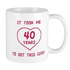 Funny 40th Birthday (Heart) Mug
