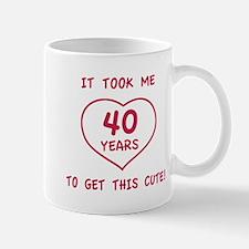Funny 40th Birthday (Heart) Mug