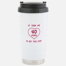 Funny 40th Birthday (Heart) Travel Mug