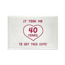 Funny 40th Birthday (Heart) Rectangle Magnet