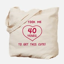 Funny 40th Birthday (Heart) Tote Bag