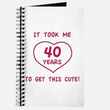 Funny 40th Birthday (Heart) Journal