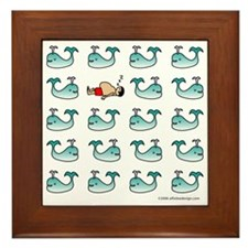 One of These Mammals!(Whale) Framed Tile