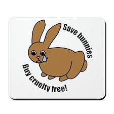 Save Bunnies Cruelty-Free Mousepad