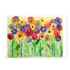 Melting Colors Garden Postcards (Package of 8)
