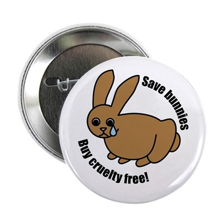 "Save Bunnies Cruelty-Free 2.25"" Button (10 pack)"