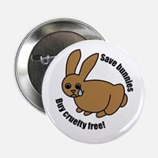 Save Bunnies Cruelty-Free Button