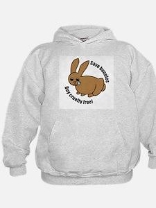 Save Bunnies Cruelty-Free Hoodie