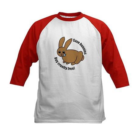 Save Bunnies Cruelty-Free Kids Baseball Jersey