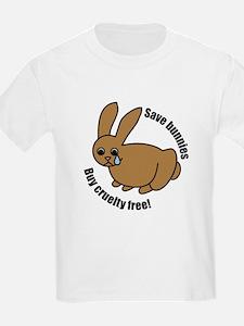 Save Bunnies Cruelty-Free Kids T-Shirt