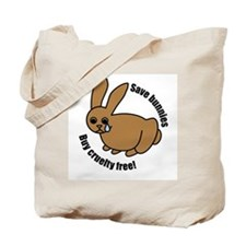 Save Bunnies Cruelty-Free Tote Bag