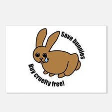 Save Bunnies Cruelty-Free Postcards (Package of 8)
