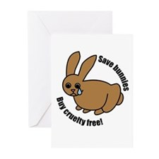 Save Bunnies Cruelty-Free Greeting Cards (Package