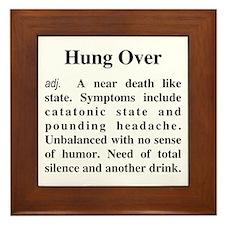 The Definition of Hungover Framed Tile
