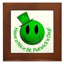 St. Pats Smiley Framed Tile