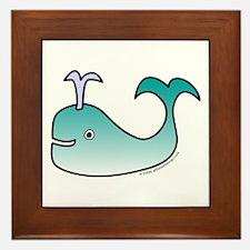 One Whale! Framed Tile