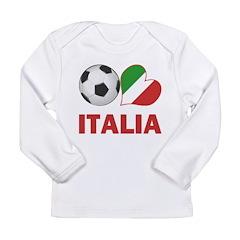 Italian Soccer Fan Long Sleeve Infant T-Shirt