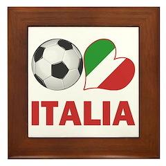 Italian Soccer Fan Framed Tile
