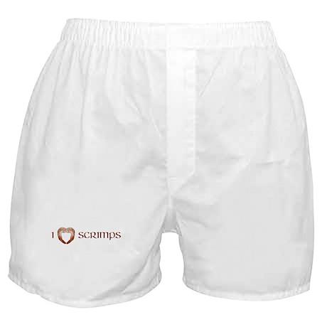 I Love Scrimps Boxer Shorts