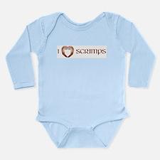 I Love Scrimps Long Sleeve Infant Bodysuit