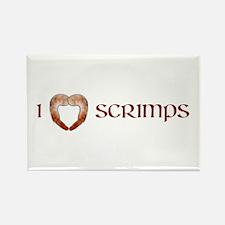I Love Scrimps Rectangle Magnet