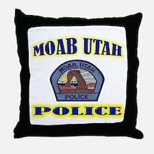 Moab Police Throw Pillow