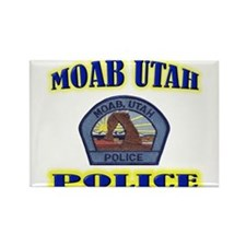 Moab Police Rectangle Magnet