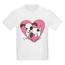 I Love My Pitbull Kids T-Shirt