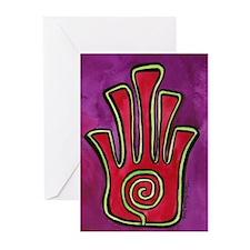 Spiral Hamsa Greeting Cards (Pk of 10)
