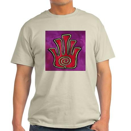 Spiral Hamsa Ash Grey T-Shirt